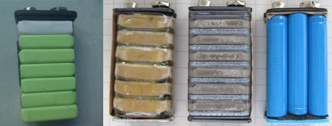 9V叠层电池内部结构